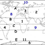 Sur ce planisphère, indiquez ce que représente la lettre C ?