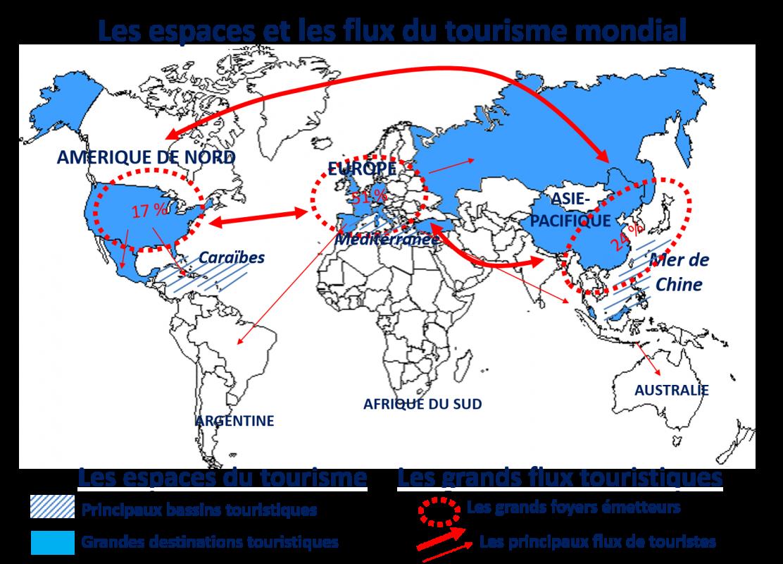 Carte flux touristiques