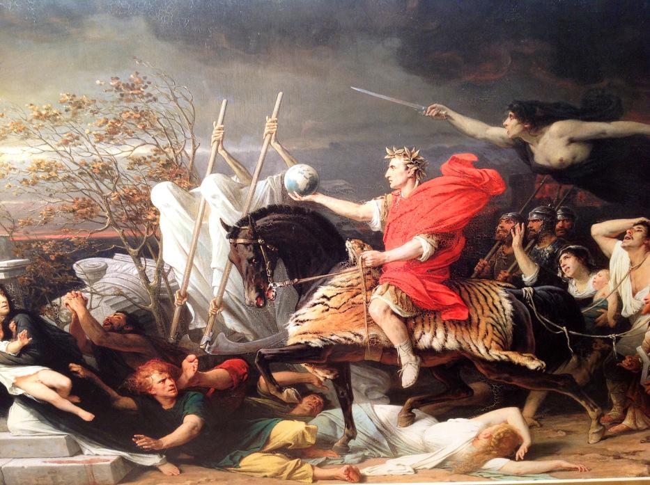 César franchissant le Rubicon : c'est le début des guerres civiles