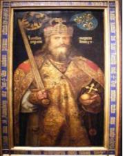 Situez dans le temps le couronnement de Charlemagne à Rome la nuit de Noël par le pape