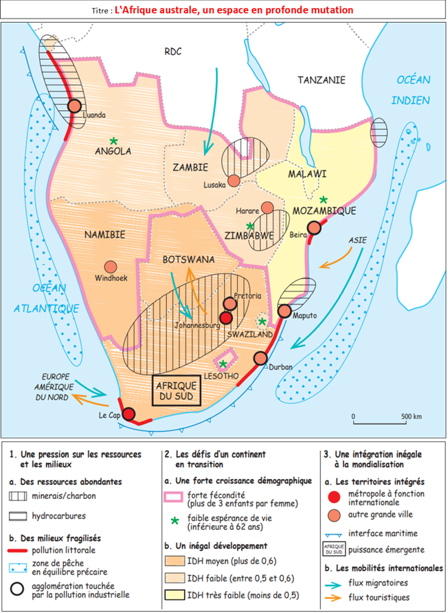 Croquis afrique australe