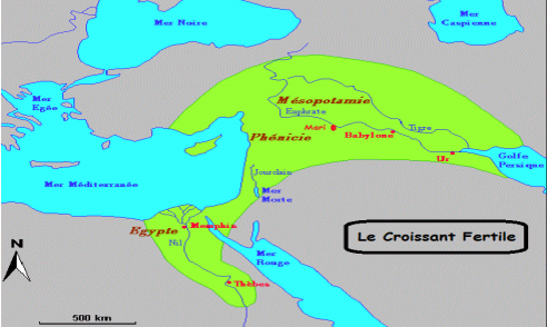 Datez l'événement suivant : les premières civilisations (en Mésopotamie, dans le croissant fertile, entre Tigre et Euphrate)