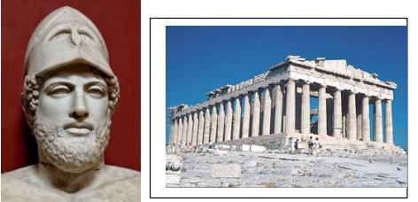 Situez dans le temps l'apogée d'Athènes sous Périclès avec la construction du Parthénon.