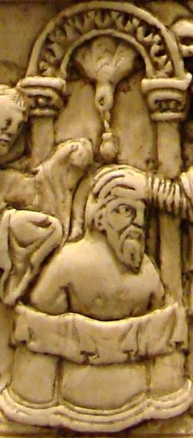 Saint remy baptise clovis detail