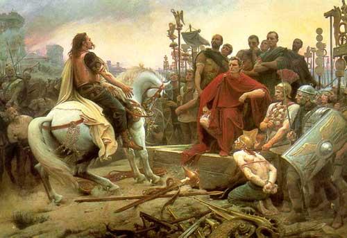 La reddition de Vercingétorix à Alésia, 52 avant Jésus-Christ