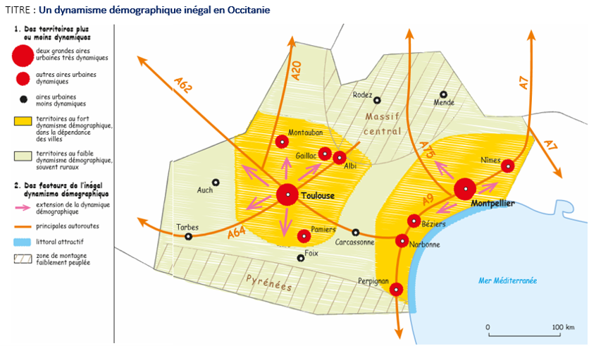 Carte occitanie
