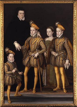 Catherine de Médicis et ses enfants