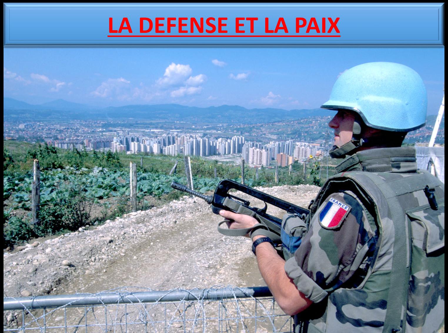 Titre la defense et la paix
